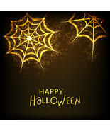 Background for Halloween Party Night Golden Traps on Shiny-Digital clipa... - $4.00