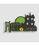 Background for Halloween Party Night with Haunt... - $3.00