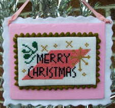 Mid-Century Modern Merry Christmas cross stitch chart Misty Hill Studio - $5.00