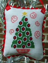 Mid-Century Modern Christmas Tree cross stitch chart Misty Hill Studio - $5.00