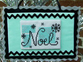 Mid-Century Modern Christmas Noel cross stitch chart Misty Hill Studio - $5.00