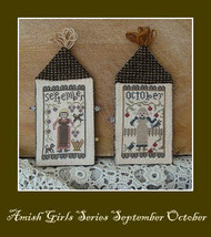 September October Amish Girl Series cross stitch chart Niky's Creations - $12.60