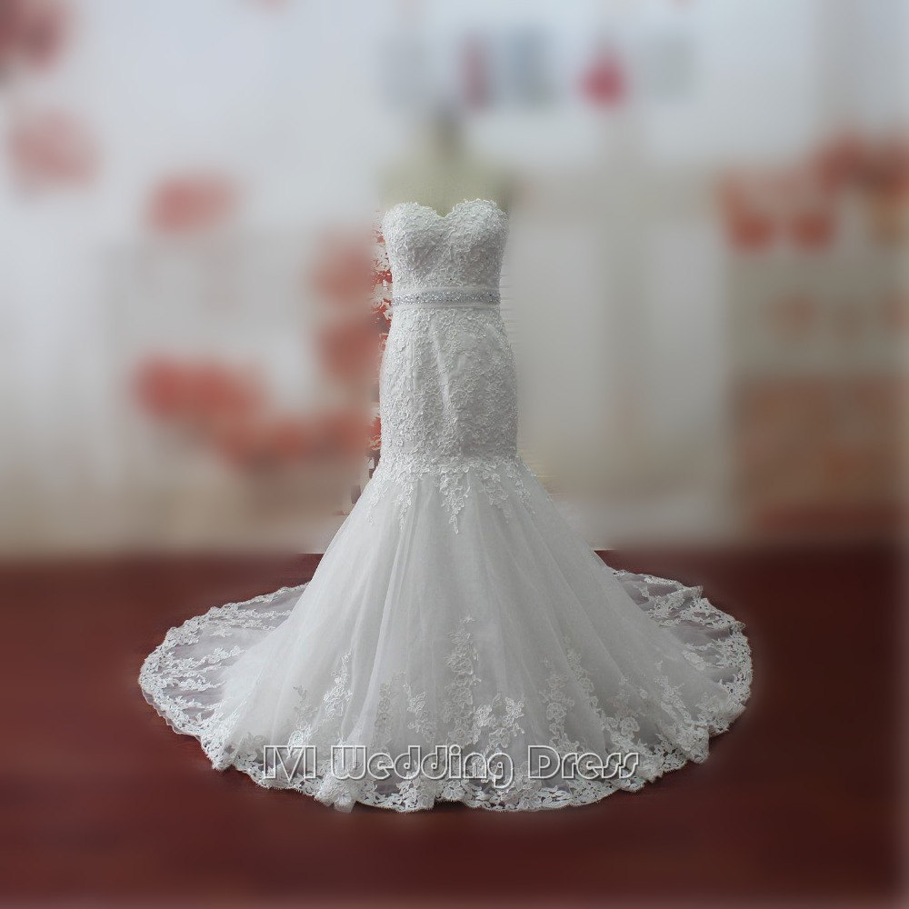 Hem A Lace Wedding Dress : Wedding dresses sweetheart lace bridal with hem