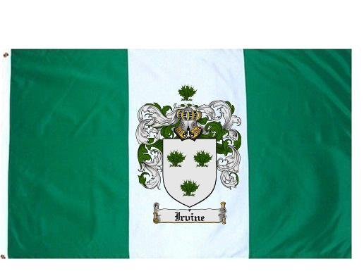 Irvine Coat of Arms Flag / Family Crest Flag