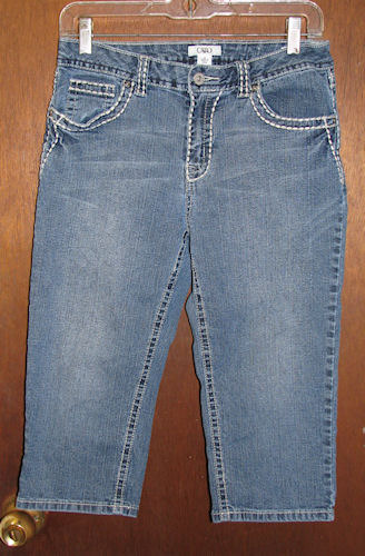 Primary image for Cato Denim Capris Decorative Stitching Misses Size 6