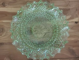 """Green Sowerby Pressed Glass - pattern 2266 """"Chunky"""" - $42.03"""