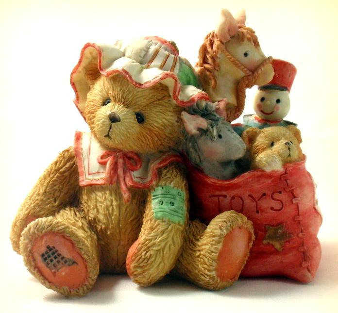 "Cherished Teddies Carolyn ""Wishing You All Good Things"" Christmas 1993 Retired"