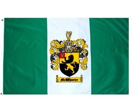 Mcwhorter Coat of Arms Flag / Family Crest Flag - $29.99