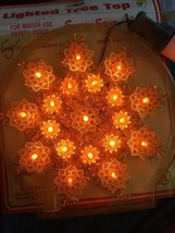 Vintage Gold 19 Light Christmas Tree Top Topper W/ Extra Bulbs - $18.76