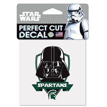 """NCAA Michigan State University 15445115 Perfect Cut Color Decal, 4"""" x 4"""", Black - $7.67"""