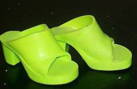 TIFFANY TAYLOR LIME GREEN HIGH HEEL SHOES - fit CRISSY, Toni & other 16-... - $14.85