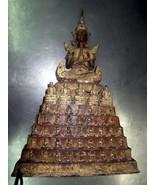 SO RARE ANTIQUE! Big Ancient Phra Ratanakosin 108, 200 Years Thai Buddha... - $349.99