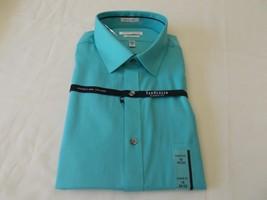 Van Heusen Men's  Classic fit Green Sea  Color Shirt Size 16 34/35 - $17.99