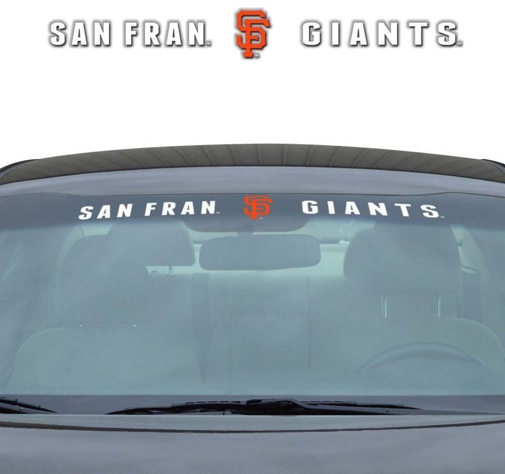 "SAN FRANCISCO GIANTS 35"" X 4"" WINDSHIELD WINDOW DECAL CAR TRUCK MLB BASEBALL"