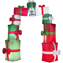 Inflatable Christmas Decorations Lighted Outdoor Lawn Archway Gift Box A... - $172.30