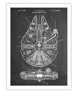 STAR WARS MILLENNIUM FALCON POSTER CHALKBOARD 1979 PATENT PRINT 18X24 TH... - $29.97