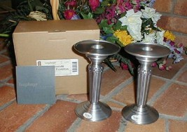 Longaberger Metalware Pedestal Candle Holders Set of 2 New in Box - $22.72