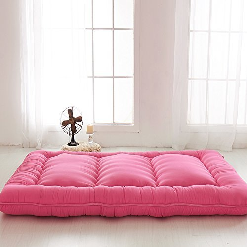 Red futon tatami mat japanese futon mattress cheap futons for Futon e tatami