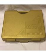 Lego Storage Case Gold Building Blocks Tote Heavy Duty USA 1997 - $17.81