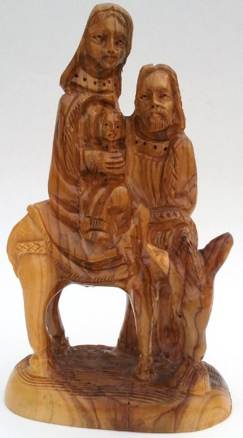 Holy family wood statue 1