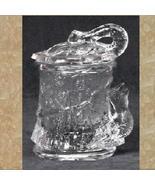 Glass Sugar Bowl with Cover - Bird Sugar Dish - $5.95