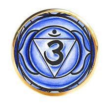 "6th Chakra Ajna 3rd Eye 1"" Circle Gold Adjustable Ring - $14.95"