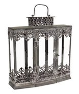 "Pack of 3 Metal and Glass Fancy Filigree Decorative Lanterns 15"" - $197.70"