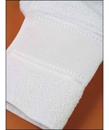White Camilla 16ct Fingertip Towel 12x19.5 cotton STS Crafts - $4.50
