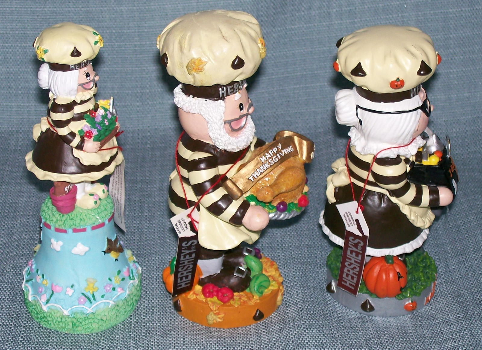 Hershey Collectibles-Spring Bell / Candy Dish, Thanksgiving, Halloween Figurines image 7