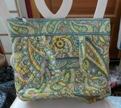 Vera Bradley Villager large zipper tote in Lemon Parfait - $46.00