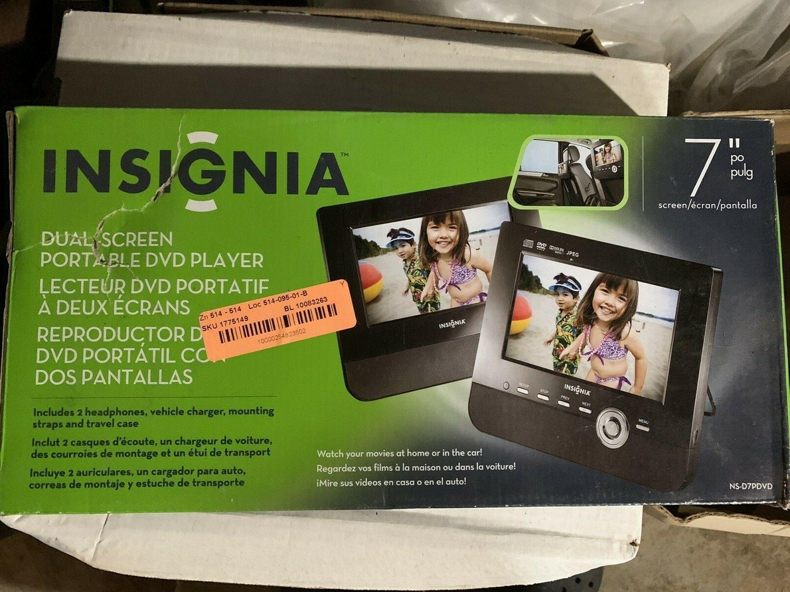 "Insignia NS-D7PDVD 7"" DVD Player - $34.64"