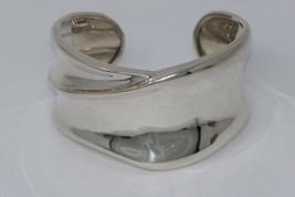 R Designer Signed .925 Sterling Silver Cuff Bracelet - $56.99