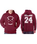 Stilinski 24 Stiles CROSS Beacon Hills Lacrosse Maroon hoodie Teen wolf - $40.00