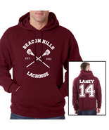 Lahey 14 Isac Lahey CROSS Beacon Hills Lacrosse Maroon hoodie teen wolf - $40.00+