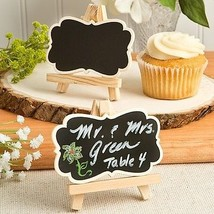 2 Natural Wood Easels Chalkboard Place Card Holder Wedding Favor Blackboard Gift - $5.92