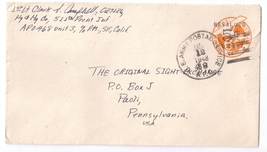 APO 468 WWII Military Occ Cover 1948 Japan 511th Parachute Inf Reg 5c re... - $7.79