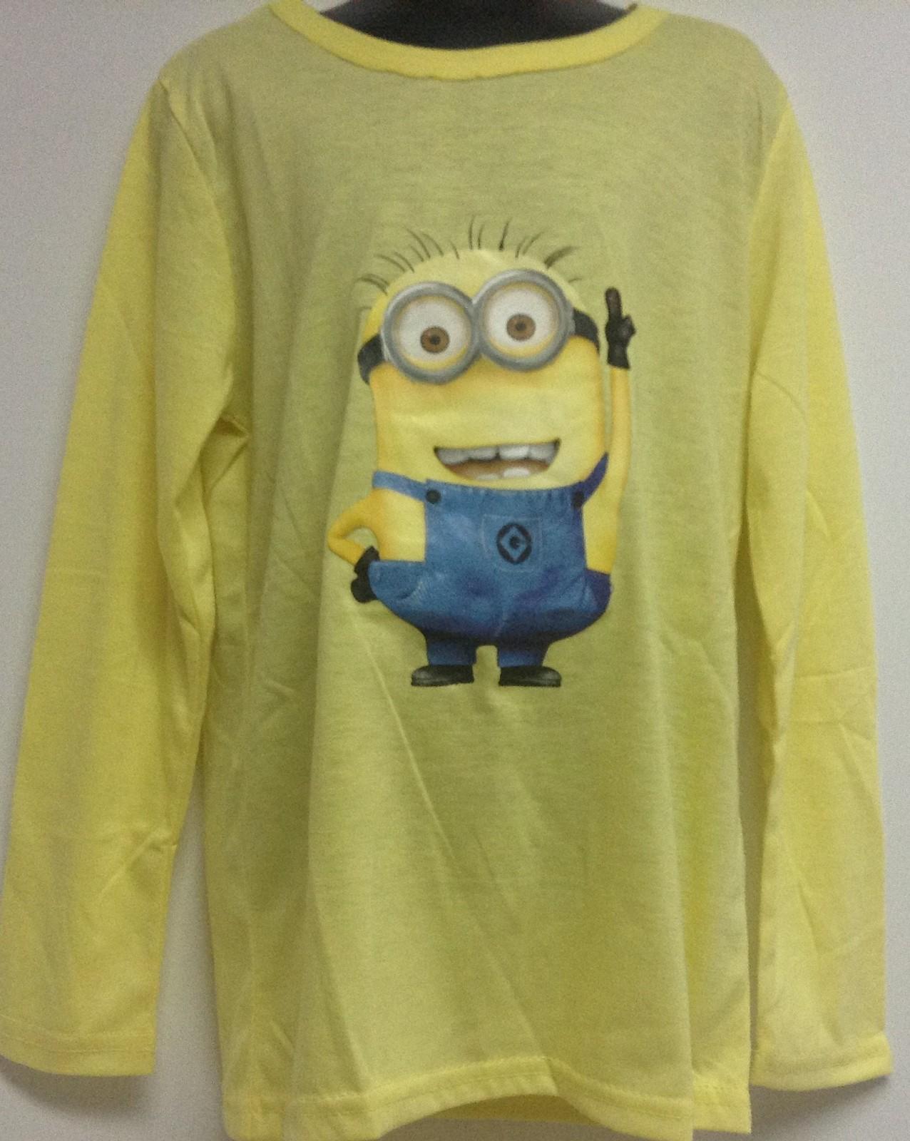 Minion Kid's Shirt Yellow Sz 8 NWT Long Sleeved