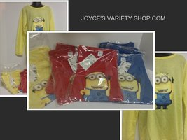 Minion Kid's Shirt Yellow Sz 8 NWT Long Sleeved - $10.99