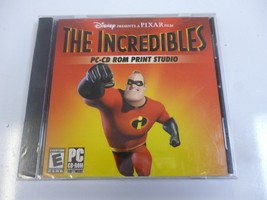 Disney Pixar THE INCREDIBLES PC-CD Rom Print Studio SEALED NEW- Action A... - $6.76