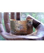 Handmade Brass and Sterling Silver Sunburst Cuff Bracelet - $79.00
