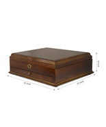 Large Romeo Memory Box Organizer Wood Finish fo... - $73.50