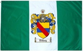 Ellway Coat of Arms Flag / Family Crest Flag - $29.99