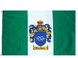 Knutson Coat of Arms Flag / Family Crest Flag - $29.99