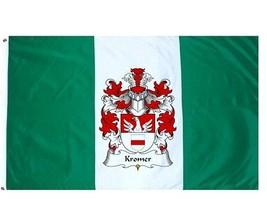 Kromer Coat of Arms Flag / Family Crest Flag - $29.99