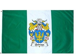 Quiroga Coat of Arms Flag / Family Crest Flag - $29.99