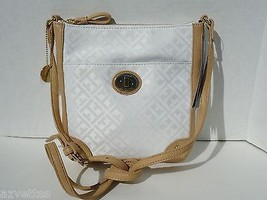 New! Ivory Saddle [Tommy Hilfiger] Shoulder Jacquard Small X Body Bag - $50.39
