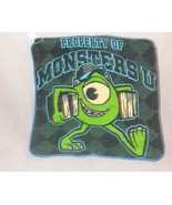 New Monsters University Washcloth 100% Cotton 2013 Disney/Pixar Gray Green - $5.98