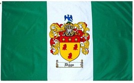 Diggs Coat of Arms Flag / Family Crest Flag - $29.99