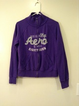 Aeropostale Dark Violet Turtleneck Zipper Sweatshirt, size XL