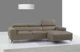 J&M A978b Full Top Grain Leather Italian Sectional Sofa Modern Right